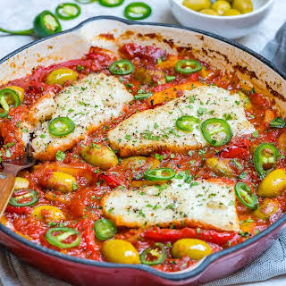 Baked Cod With Tomatoes And Olives Recipes.