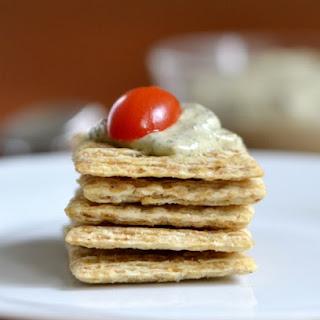 Pesto Cream Cheese Spread.