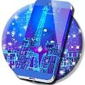 Neon Blue Paris Locker Theme