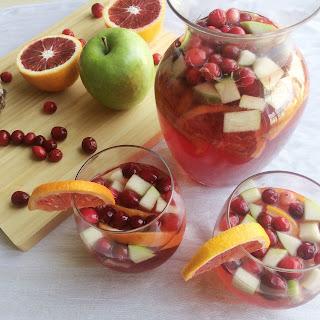 Winter Sangria with Pomegranate Juice, Apple & Blood Orange.