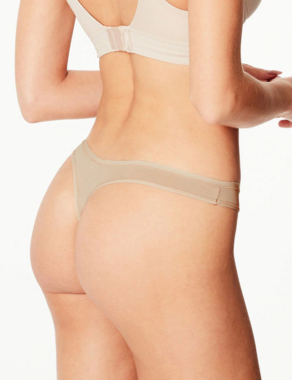 Marks & Spencer No VPL Microfibre Low Rise Thong to wear under leggings