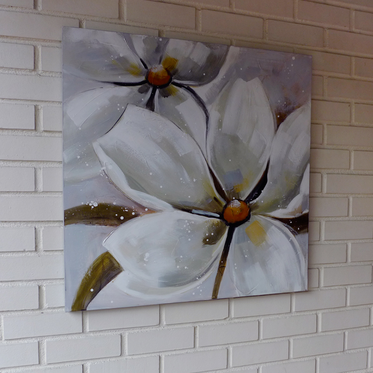 Contemporary Oil Painting _F_white_80 x 80 by K RULES ENTERPRISE