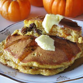 Rum Raisin Pumpkin Pancakes.