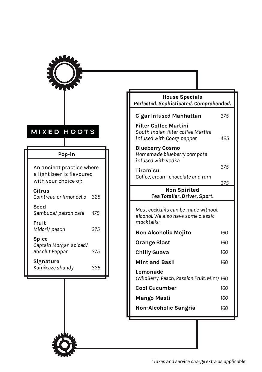 Hoot Brewery & Cafe menu 4
