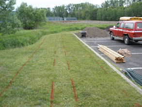 Photo: Long beds are marked out.
