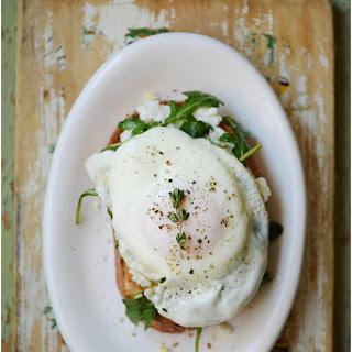 Open Face Breakfast Sandwich.