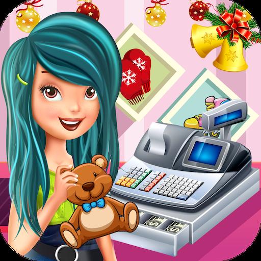 Christmas Toy Store Cash Register : Cashier Girl
