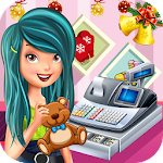 Christmas Toy Store Cash Register : Cashier Girl Icon