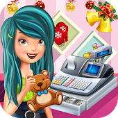 Christmas Toy Store Cash Register : Cashier Girl