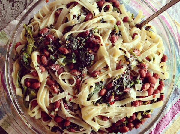 Broccoli Rabe With Beans And Fettuccini Recipe