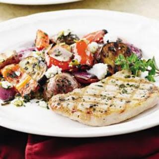 Marjoram-Rubbed Pork & Grilled Potato Salad