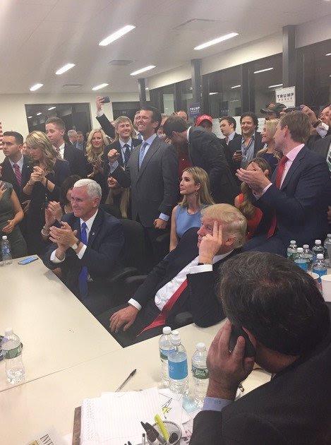 Trump à son QG