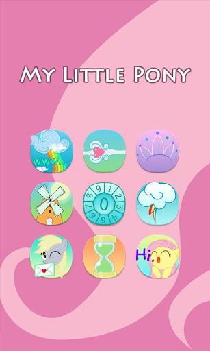 【免費個人化App】Pink Little Pony Theme-APP點子