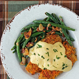 Crispy Cheddar Chicken with Cream Sauce.