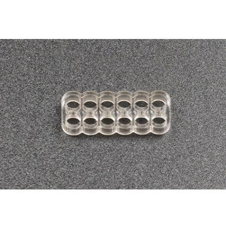 Kabelkam for 12 pins kabel, 2x6 Ø4mm hull, klar
