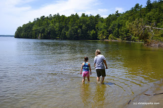 Photo: Wading in Niquette Bay State Park by Adam White