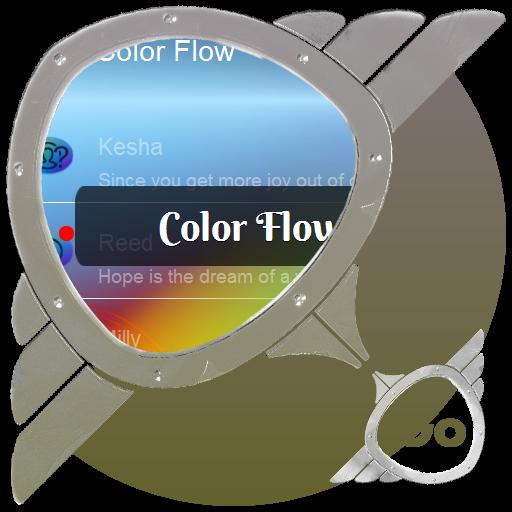 個人化App|カラーフロー GO SMS LOGO-3C達人阿輝的APP