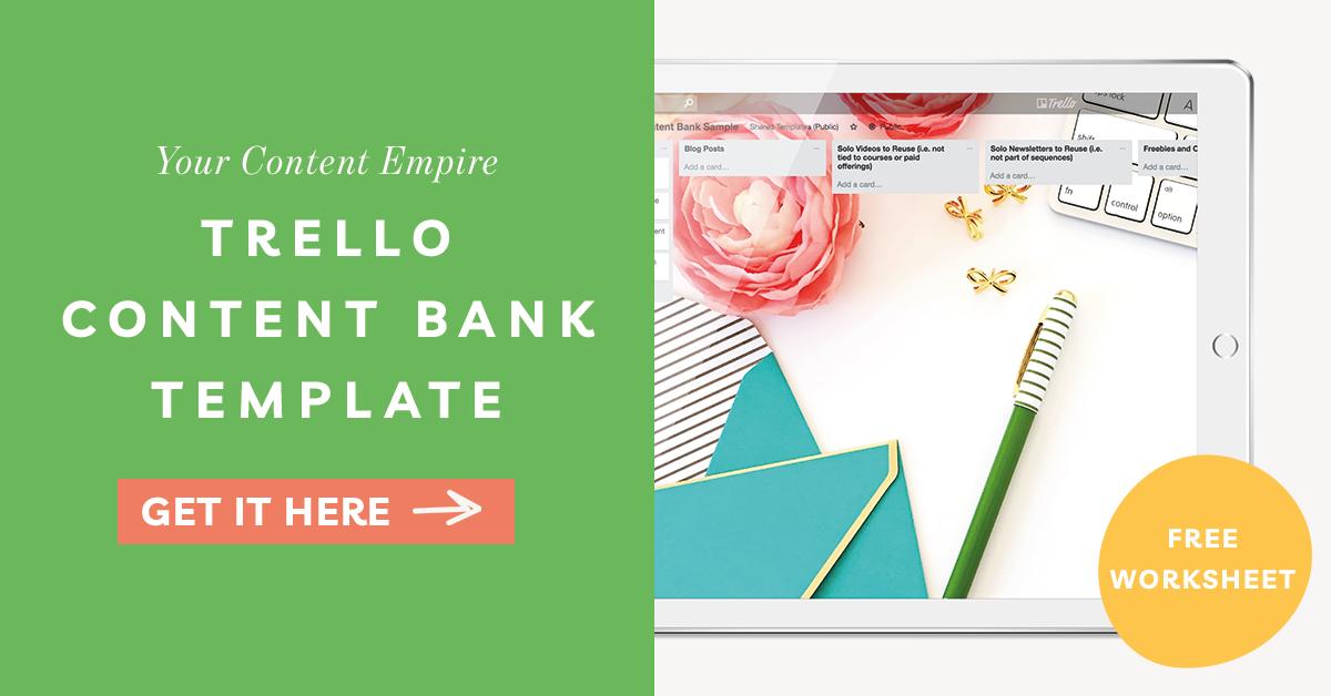 Freebie | Content Bank Trello Board Template