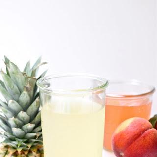 Pineapple and Peach Vinegars.