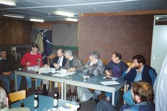 Photo: Eerste bestuursvergadering in het nieuwe clubgebouw