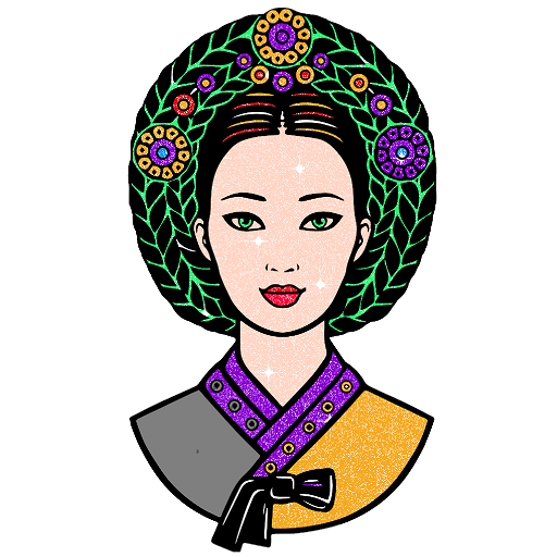 Korean Glitter Color by Number - Country Coloring Icon