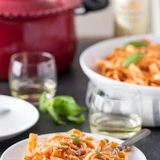 White Wine Pasta with Tomato Sauce.