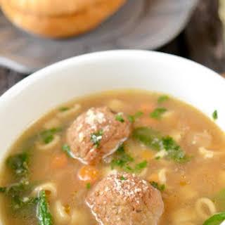 Italian Wedding Meatball Soup.
