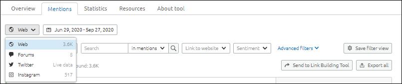 How to do Brand monitoring via SEMrush  content marketing tool