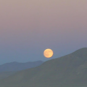 Full Moon over Black Rock Mountains by William Brunson Jr. - Landscapes Mountains & Hills