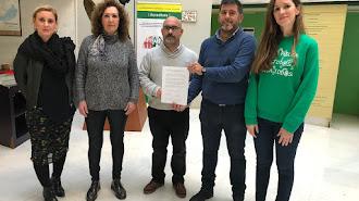 Representantes en Almería de los sindicatos que han convocado la huelga.