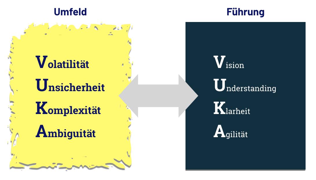 VUCA Welt vs VUKA Modell - Chaos und Führung in digitalen Märkten
