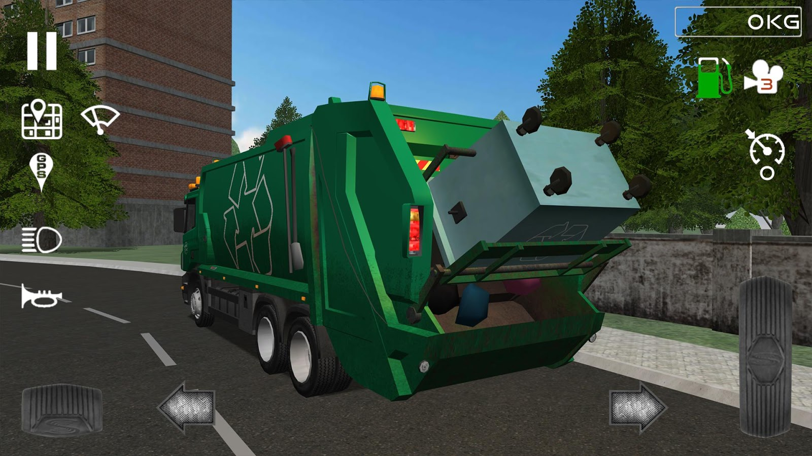 Trash Truck Simulator- screenshot