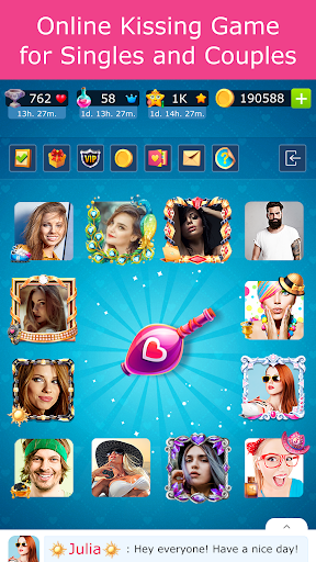 Kiss Kiss: Spin the Bottle for Chatting & Fun apklade screenshots 2