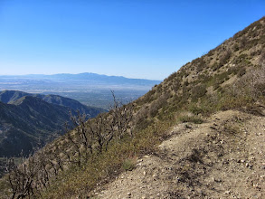 Photo: View south toward Pomona Valley and Saddleback mountain in Orange County from the same location on the ascending/descending ridge on the northeast hip of Sunset Peak