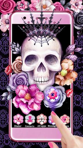 Skull Flower Themes Live Wallpapers screenshots 1