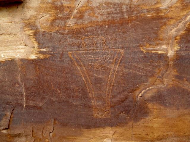 Fremont petroglyph in Buckhorn Wash