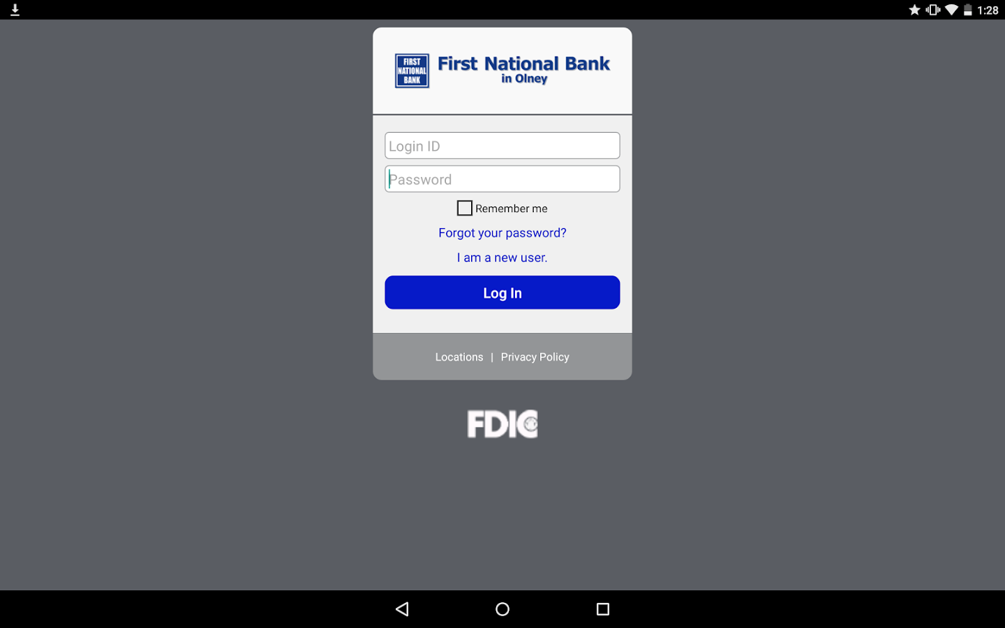 First National Bank in Olney- screenshot