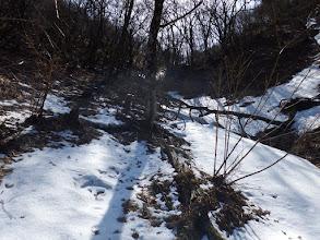 最後の斜面に雪