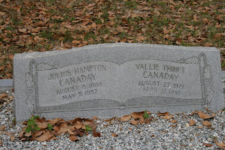 Photo: Julius Hampton Canady and Wife Vallie Thrift Canaday