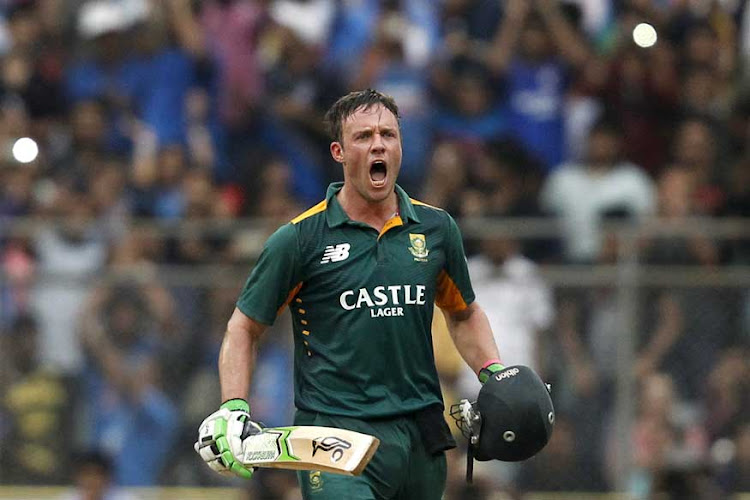 AB de Villiers in full cry. Picture: REUTERS