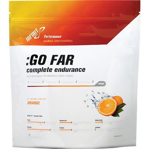 Infinit Nutrition Go Far Energy Drink Mix: Orange 18 Serving Bag