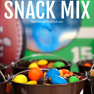 Sweet and Salty M&M Snack Mix.