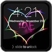 Love Neon Lock Screen