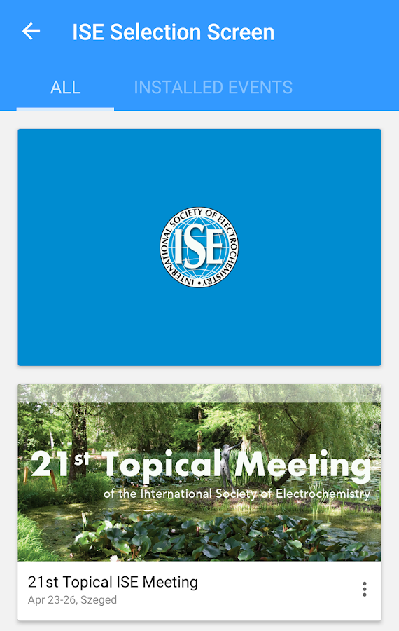ISE Meetings- screenshot