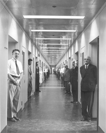 Hallway, New GE Research Laboratory, 1950
