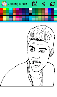 coloring book for Justin Biieber - náhled