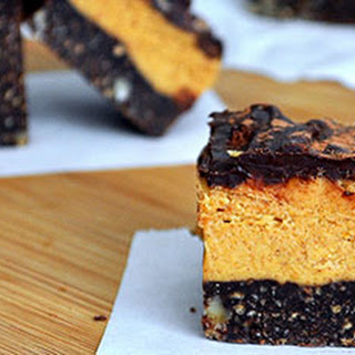 Dark Chocolate Pumpkin Nanaimo Bars