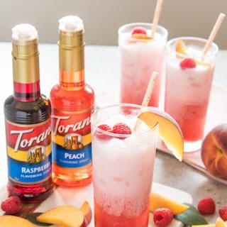 Raspberry Peach Italian Cream Sodas.