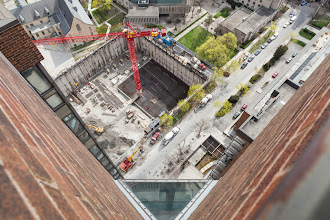 Photo: Ground on Down And you're working your way From the ground on down  Listen: http://youtu.be/8f-D7Xx89r4  #rooftopping #toronto #vertigo #urbex #urbanexploration #construction