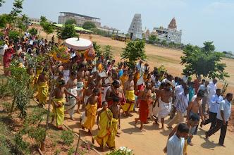 Photo: Going to Pushkarini for Chakra Snanam (3rd Bramhothsavam - Divya Saketham - 2012 Apr 29 to May 5)